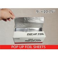 Non Stick Pop Up Aluminum Foil Sheets , Pre Cut Aluminum Foil 14 Micron Thickness