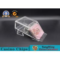 Buy cheap 1 Deck/ Casino Poker Dealer Shoes Black Color Gambling Dedicated Acrylic Shoes from wholesalers