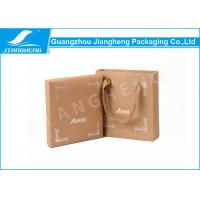China Eco - Friendly Kraft Paper Watch Gift Boxes Flat Rainbow Hot Stamping Logo on sale