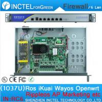 China 1037U multi gigabit network port routing 1U high end Firewall Server with Intel PCI E 1000M 6 82583V on sale