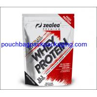 Zipper stand up pouch, Top zip lock plastic bag, Resealable aluminum foil bag for protein