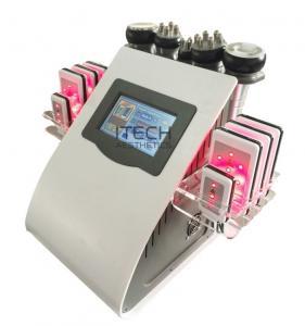 Wholesale 6 In 1 Lipo Laser + Cavitation + RF + Vacuum / RF Cavitation Vacuum Lipolaser Slimming Machine from china suppliers