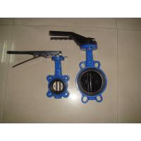 Wholesale Handle / gear operated stainless steel Europe type Butterfly valve comply with EN593 from china suppliers