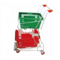 China Top quality basket shopping cart with two plastic basket on sale