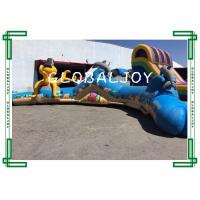 Worm Inflatable Bouncer Crawl Climb Slide Cutting Edge Obstacle Course Bouncy Castles Manufactures