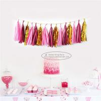 Buy cheap Mixcolor Tassel Garland Paper Garland Christmas Birthday Party Decorations from wholesalers