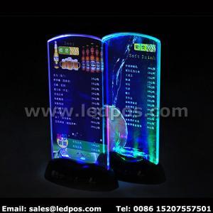 Battery Powered LED Menu Card Sign Holder