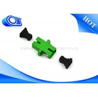 Wholesale SC APC To SC APC Green Fiber Optical Adapter / Fiber Coupler 1 Year Warranty from china suppliers