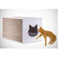 Wholesale Light Weight Corner Cat Scratcher , Heavy Duty Cardboard Scratching Box For Cats from china suppliers