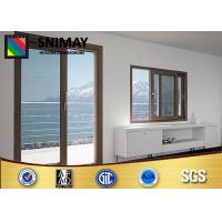 Wholesale Aluminum Profile Customized Wooden Windows Brown With Glass Door from china suppliers