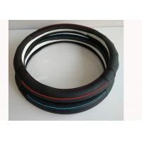 Wholesale Durable Car Steering Wheel Cover With Red Pipe Blue Pipe Genuine Leather Material from china suppliers