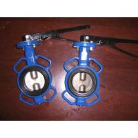 Wholesale Universal Flange Wafer cast iron body Butterfly valve handle or gear operated from china suppliers