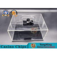 Buy cheap Texas Hold'em 400-yard Mobile Chip Box Thickened Full Transparent Chip Box Spot from wholesalers