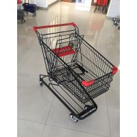 Wholesale 125 L Supermarket Shopping Trolley With 4 Swivel Flat Casters , 941 X 562 X 1001mm from china suppliers