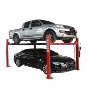China Simple Maintenance 4 Post Vehicle Lift , 4 Post Car Lift With Casters on sale