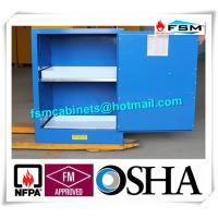 Blue Corrosive Chemical Acid Storage Cabinet Flammable Locker Single Door
