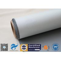 Wholesale 1 Side 18 Oz Grey Silicone Coated Fiberglass Fabric for Heat Insulation Pipe Cover from china suppliers