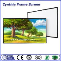 Wholesale Cynthia Cheapest PVC Fabric Fixed Frame Projector Screens Frame Screen from china suppliers