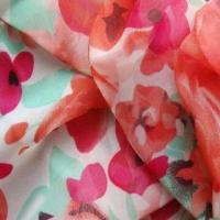 China Printed georgette fabric, used for dresses and garments on sale