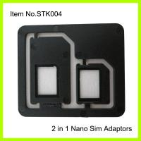 Wholesale 3FF - 2FF Cell Phone SIM Card Adapter , Normal Black Plastic ABS from china suppliers