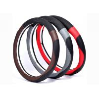 Wholesale New material car steering wheel cover made by super fiber leather in various colors from china suppliers