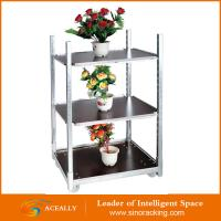 Wholesale Customized 4 Wheel Flower Cart Trolley with Wooden Panel from china suppliers