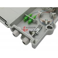 China FTTH 4 Cores Outdoor Fiber Termination Box , Fiber Optic Connection Box SC Adapter on sale