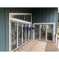 China Double glazed Aluminum Folding Doors 75mm Depth For building contractors on sale