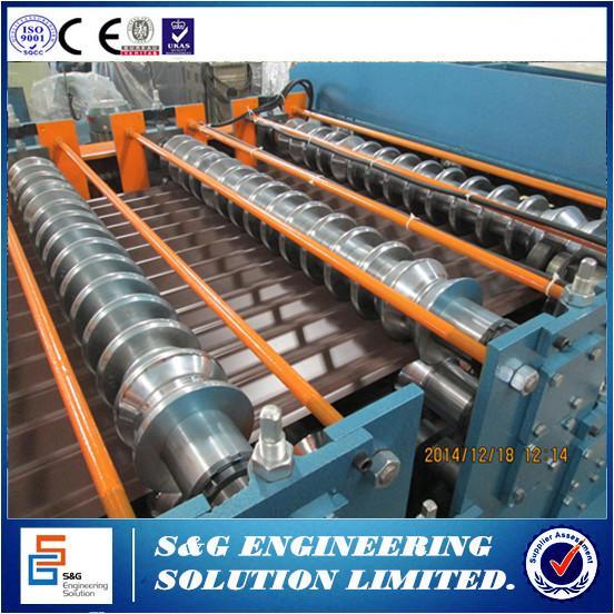 Double Layer Metal Tile Making Machine 5 5kw Main Motor