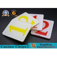 Wholesale 65g Casino Game Accessories Acrylic Scrub Digital 1/2 Cover Plate from china suppliers