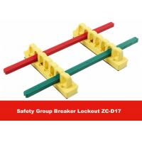 Wholesale PA Colorful Safety Group Breaker Lockout with 3M Tap on Back from china suppliers
