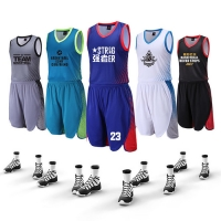 Wholesale Competition Clothing Jersey Polyester Sportswear Quick Dry Men Basketball Sets from china suppliers