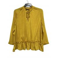 China Fashion Style Comfortable Long Sleeve Blouse Yellow Color For Autumn Season on sale