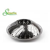 Wholesale SS430 Collapsible Stainless Steel Steamer Basket Non Scratch For Food Cooking from china suppliers
