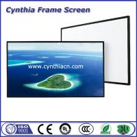 Wholesale Cynthia Screen Fixed Frame Projection Screen PVC Fabric Projector Screen from china suppliers