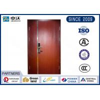 Buy cheap 60/90 mins Varnish Free Red/ Sapele Mother And Son Wood Fire Door With Steel from wholesalers