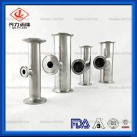 China SS304 316L Sanitary Stainless Steel Pipe Connector 90 Degree Clamped Tee on sale