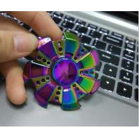 Wholesale Rainbow Color Hand Spinner High Speed Zinc Aolly Bearing Metal Material Hand Spinner For Adult and Children from china suppliers