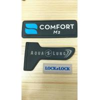 Silk Screen Printed Soft TPU 3D Logo Patches , High Frequency Label For Clothing