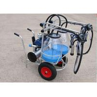 25L Goats Mobile Milking Machine With Transparent Bucket , Single / Double