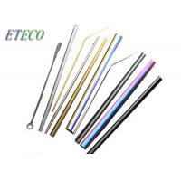 China Small Glasses Cups Child Stainless Steel Cocktail Straws For Family Party on sale