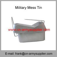 China Wholesale Cheap China Military Aluminum Stainless Steel Army Police Mess Tin on sale