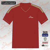 Red sublimated college soccer jersey custom football shirts team wears