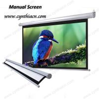 Buy cheap Wall Mount Manual Self Lock Projection Screens from wholesalers