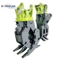 China Strong Excavator Hydraulic Parts Thumb Scrap Grapple 1 Years Warranty on sale