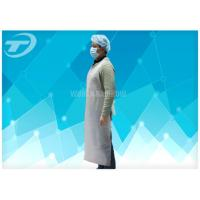 Wholesale HDPE Disposable Plastic Aprons White Color 80 X 140 Cm , Plastic Coated Aprons from china suppliers