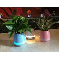 Wholesale Music Flowerpot Speaker,Blue color Music Playing Flowerpot Speaker, LED Light Round Plant Pots Bluetooth Speaker from china suppliers