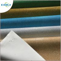 Wholesale Colorful Synthetic Leather Fabric Sheet Shiny Glitter Woven Backing Multi Layers from china suppliers
