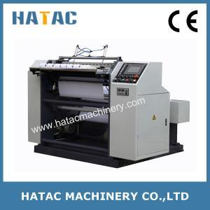 China Disc Blade Thermal Receipt Paper Reel Slitter Rewinder,POS Paper Slitting Machine,ATM Paper Slitter Rewinder on sale
