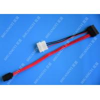 Wholesale SATA 3.0 6Gbps SATA Data Cable , 4 Pin IDE LP4 Power SATA Cable Length 40cm from china suppliers